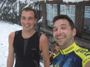 Regen, Schnee, Schneefahrbahn und eine Mountainbiketour