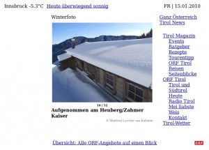 Winterstimmung in Tirol…