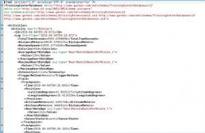 Garmin ForeRunner TCX Dateien zerlegen