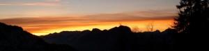 Sonnenuntergang im Kaisertal