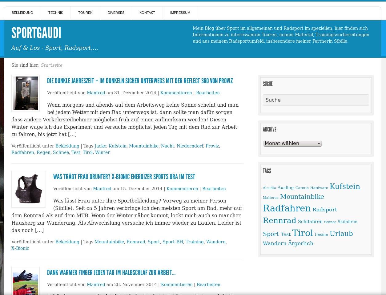 Sportgaudi von blogger.com auf eigenen Server übersiedelt