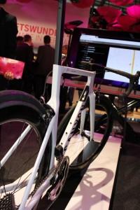 Connected Bike am Telekom Stand