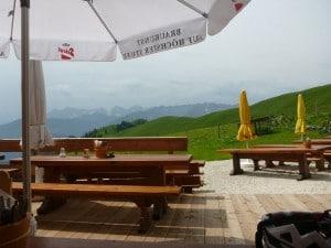 Ausblick von der Burgerhütte zum Kaisergebirge