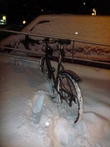 Schnee Radfahren