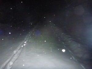 Schnee am Radweg nach Kufstein