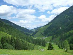 Blick von der Labalm Richtung Aschau