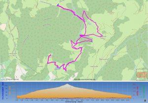 Streckenübersicht mit Höhenprofil - Heuberg