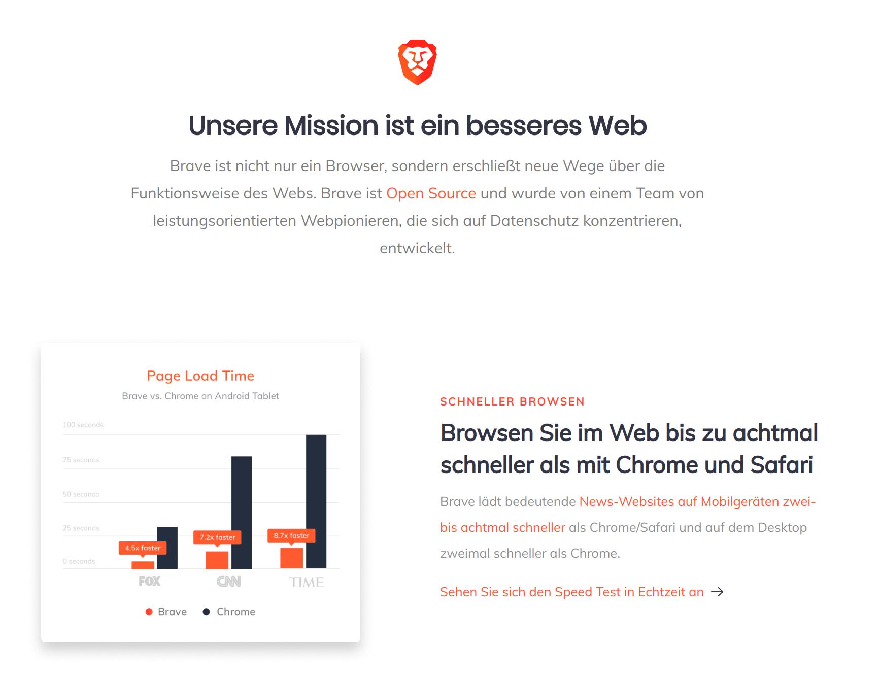Brave Browser – ein ganz anderes Thema